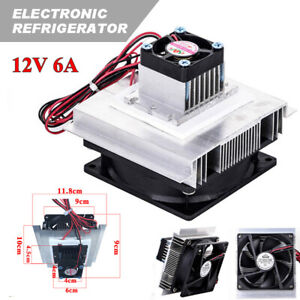 Thermoelectric Peltier Refrigeration Cooler Fan Cooling System Kit Module 12v