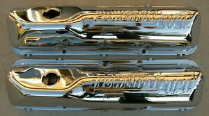 Ford Thunderbird Fe 390 427 428 Chrome Valve Rocker Arm Covers 1958 1969 58 69
