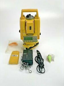 Topcon Total Station Gts 225 220 Series W Case Charger Extra Battery