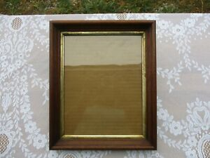 Antique Victorian Walnut Picture Frame With Old Glass Fits 10 X 8