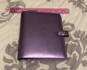 Recollections Planner Cover Binder Organizer Used A5 Purple No Inserts