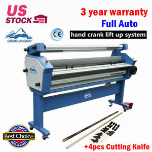 63in 55in Full auto Wide Format Cold Laminator With Heat Assisted Trimmer