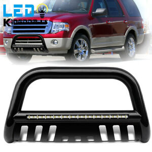 For 2004 2020 Ford F 150 Bull Bar Bumper Guard W Led Lights Brush Push Grille