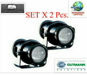 Pair Of Hella Micro De Fog Lamps Including Fitting Kit 1nl008 090 037