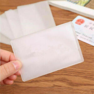 10 30x Plastic Clear Name Credit Id Card Bank Sleeves Protector Holder Cover