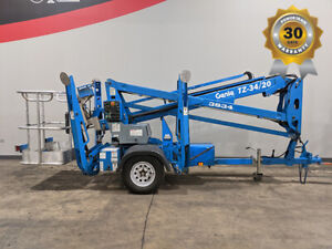 2013 Genie Tz34 Towable Articulating Boom Lift W Jib Electric On board Charger