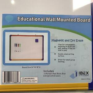 2 Pack Magnetic Kids Whiteboard For Home Learning Wall Mounted Double Side