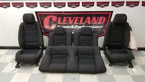 2010 2012 Mustang Gt Coupe Oem Front Rear Manual Seat Seats Black Cloth Blown