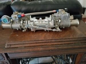 Weber 45mm Dcoe Nos B M Manifold Twin Side Draft Carbs