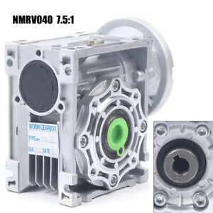 7 5 1 Worm Gearbox Speed Gear Reduction Nmrv040 Reducer For Stepper Motor New