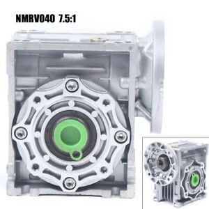 Nmrv040 Worm Gearbox Gear Reducer Ratio 7 5 1 18mm Output Bore For Servo Motor