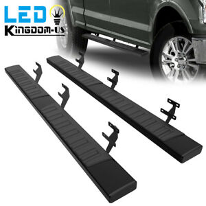 For 15 21 Ford F 150 Super Crew Cab 6 Running Boards Side Steps Nerf Bars Pair