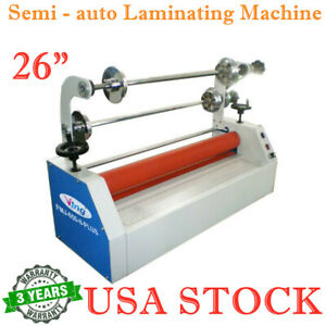 Us 26 Semi Auto Laminating Machine Electric Business Card Cold Laminator