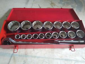 Craftsman 3 4 In Drive Heavy Duty Socket Set 7 8 To 2 3 8