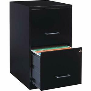 14341 18 Deep 2 drawer File Cabinet Black