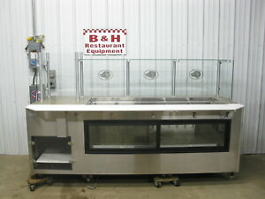 Southern Case Arts 96 Remote Cold 5 Well Cold Well Deli Display Merchandiser