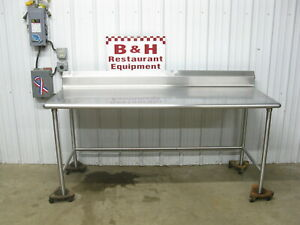 78 X 30 Stainless Steel Heavy Duty Roll Under Kitchern Work Table 6 6