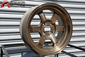 4 New 15 Rota Grid V Wheels 15x9 4x114 3 0 Full Royal Sport Bronze Rims