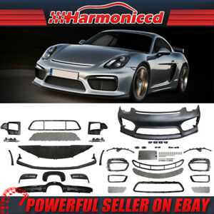 Fits 2014 2016 Porsche 981 Cayman 2013 2016 Boxster Front Rear Bumper Cover Drl