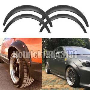 4pcs Jdm Universal Fender Flares 50mm75mm Wide Body Kit Wheel Arches Fits 2010 Toyota Corolla