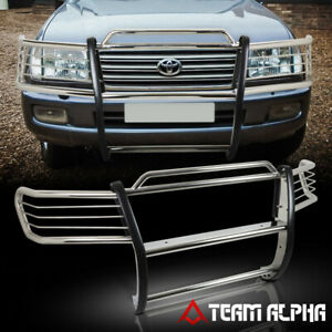 Fits 1998 2007 Toyota Land Cruiser Stainless Steel 1 5 Bumper Grille Brush Guard
