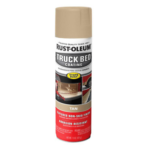 6 Pack Tan Truck Bed Coating Spray Paint 15 Oz Rustoleum Cover Scratch Liner New