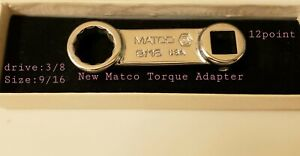 Nos One Matco 9 16 3 8 Drive Torque Adapter Wrench Made In Usa 12 Point