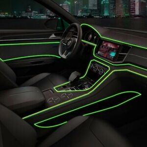 Green 2m Universal Car Interior Led Decorative Atmosphere Wire Strip Cold Light