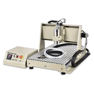 1500w Spindle 4 Axis 6040 Cnc Router Engraver Diy Milling Driiling Machine usb
