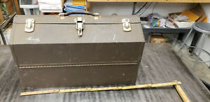 Kennedy Cantilever Hip Roof Metal Tool Tackle Box Metal Candle