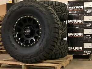 17x8 5 Method Mr305 Nv Black Wheel 37 Toyo Rt Tires 5x5 Jeep Wrangler Jl Jk
