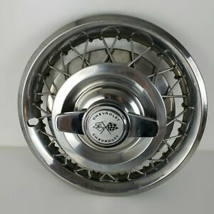 4 Chevy Corvair Spinner Wire Hubcaps 1962 63 Chevrolet