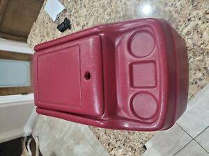 1981 1993 Dodge Ramcharger D150 D250 Pickup Truck Center Console Cupholder Red