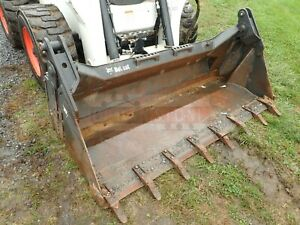 2012 Bobcat 80 Combo Bucket W Teeth For Skid Steer Loaders Ssl Quick Attach
