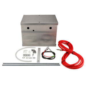Universal Polished Billet Race Car Complete Aluminum Battery Box Relocation Kit