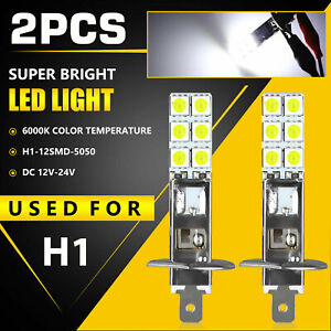 2x H1 Led Headlight Light Bulbs Kit 6000k Super White 55w Cree Fog Driving Lamp