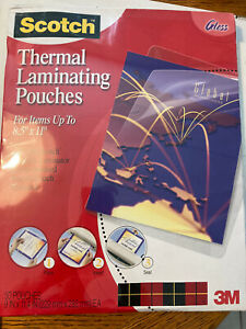 Scotch Thermal Laminating Pouches Letter Size tp3854 50 Gloss
