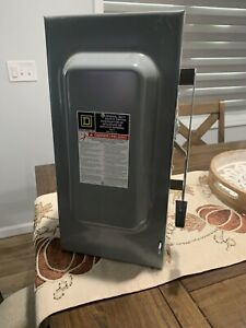 Square D D323n new 100 Amp 240 Volt series F General Duty Safety Switch