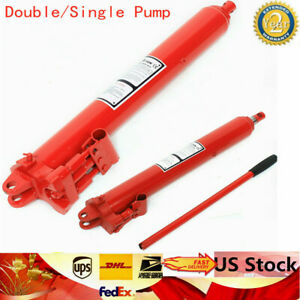 3 Ton Hydraulic Long Ram Jack Engine Lift Hoist Cylinder Pumps Equipment Garage