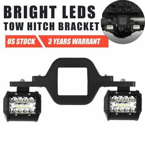 Tow Hitch Mounting Bracket 4 Combo Led Work Light Pods Reverse Backup Truck