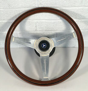 Vintage Nardi Wood Steering Wheel Mercedes Horn Hub R107