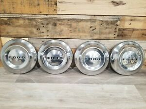 Ford Dog Dish Hubcaps Set Of 4