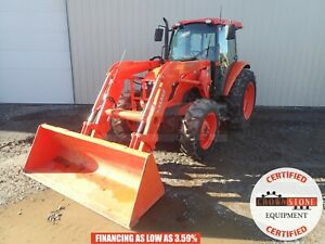2012 Kubota M9540 Loader Tractor Cab Heat ac 4x4 3 Pnt 1 Remote 540 Pto 1008 Hrs