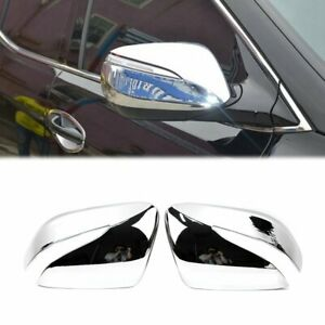 Rearview Side Wing Mirror Cover For Hyundai Santa Fe 2013 18 Chrome Molding Trim