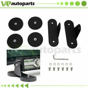 Fits Offroad 2x Roof Led Light Bar Strong Powerful Mount Bracket Magnetic Base