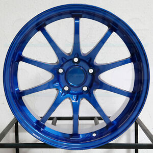 4 New 18 Vordoven Forme 15 Wheels 18x9 5 5x114 3 30 Candy Blue Rims 73 1