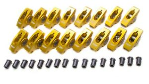 Crane 10750 16 1 5 Roller Rocker Arm Gold Anodize Fits Small Block Chevy 16 Pc