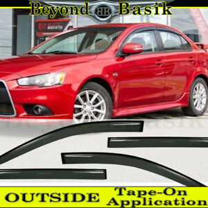 2008 2011 2012 2013 2014 2015 2016 2017 Mitsubishi Lancer Smoke Door Vent Visors
