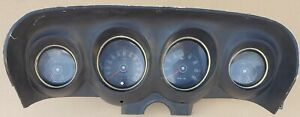1969 Mustang Instrument Cluster With Tachometer Used