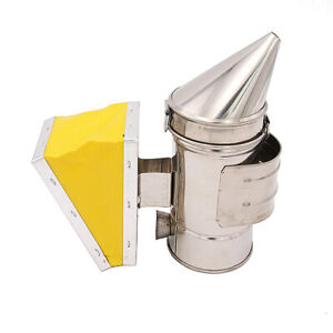 Bee Hive Smoker Stainless Steel With Heat Shield Beekeeping Equipment Us F2y0